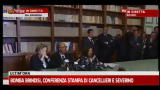 Bomba Brindisi, conferenza stampa di Cancellieri e Severino
