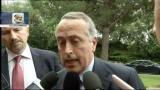 28/05/2012 - Blitz a Coverciano, le parole di Abete