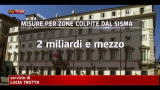 Le misure del governo per le zone colpite dal sisma