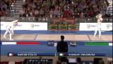Europei di scherma: semifinale sciabola femm. - 1^parte