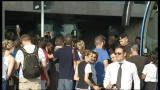 Euro 2012, l'arrivo a Fiumicino della Nazionale