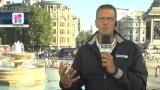 23/07/2012 - Olimpiadi 2012, Trafalgar Square inizia ad animarsi
