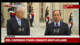 31/07/2012 - Crisi, conferenza stampa congiunta Monti-Hollande