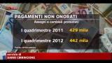 Crisi, Unioncamere: in aumento assegni e cambiali non pagati
