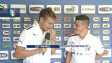 Under 21, Ciro Immobile intervista Alessandro Florenzi
