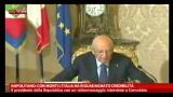 Napolitano: con Monti l'Italia ha riguadagnato credibilità