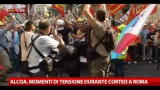 Alcoa, momenti di tensione durante corteo a Roma