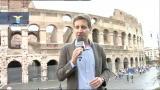 Lazio al Colosseo per la foto di gruppo