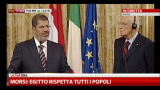 Morsi: non accettiamo assalti alle ambasciate