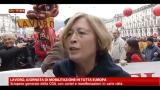 Lavoro, giornata mobilitazione Europea: le voci del corteo