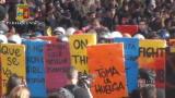 Manifestazione a Roma: il video della Polizia