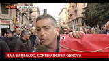27/11/2012 - Ilva e Ansaldo, cortei anche a Genova