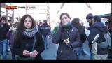 06/12/2012 - Roma, corteo studenti: bloccate le entrate della Rinascente
