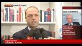 """28/12/2012 - Alfano: """"Chi agevola successo sinistra non fa buon servizio"""""""