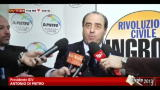 15/01/2013 - Di Pietro: no patti di desistenza tra Ingroia e il Pd
