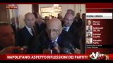 26/02/2013 - Napolitano, aspetto riflessioni dei partiti