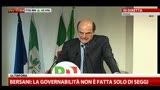 Bersani: qui non si sta corteggiando Grillo