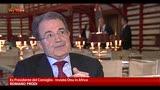 Prodi: bisogna passare dall'urlo al dialogo