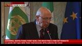 Governo, Napolitano: farò quel che devo fino a fine mandato