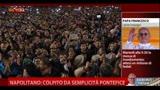 Napolitano: colpito dalla semplicità del Papa
