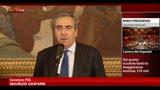 Presidenza Senato, Gasparri: non partecipiamo a spartizioni