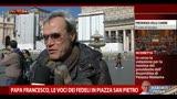 16/03/2013 - Papa Francesco, le voci dei fedeli in Piazza San Pietro
