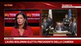 Laura Boldrini (Sel) è stata eletta Presidente della Camera