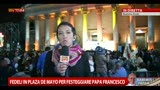 Fedeli in Plaza de Mayo per festeggiare Papa Francesco