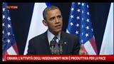 Obama: attività degli insediamenti non produttiva per pace