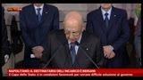 Napolitano: il destinatario dell'incarico è Bersani
