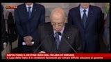 Napolitano: difficoltà rilevanti per grande coalizione