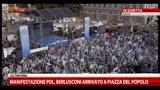 23/03/2013 - Manifestazione PDL, Berlusconi in Piazza del Popolo
