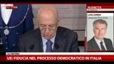 30/03/2013 - La scelta di Napolitano: le reazioni del PD, parla Zanda