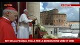 Riti della Pasqua, folla per la benedizione Urbi et Orbi