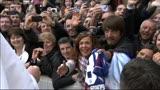 31/03/2013 - La maglia del San Lorenzo al Papa per la messa di Pasqua
