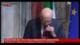 """08/04/2013 - Napolitano: """"nel 1976 ci volle coraggio per larghe intese"""""""