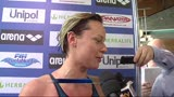 12/04/2013 - Nuoto, Federica Pellegrini soddisfatta dopo l'oro nei 200sl