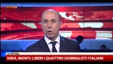 13/04/2013 - Siria, liberati i quattro giornalisti italiani
