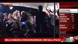 """20/04/2013 - Grillo, dimissioni Bersani: """"A casa"""""""