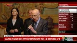 Napolitano rieletto presidente