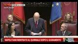 Napolitano: se forze politiche sorde, prenderò provvedimenti