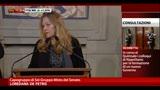"""Consultazioni, De Petris: """"Fiducia e stima per Napolitano"""""""