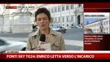 Fonti Sky TG24: Enrico Letta verso l'incarico