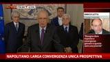 Governo, Napolitano: larga convergenza unica prospettiva