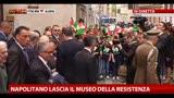 Napolitano lascia il Museo della Resistenza