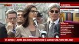25 Aprile, Boldrini interviene alla manifestazione di Milano