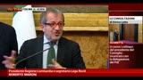Maroni: non entreremo nel Governo, staremo all'opposizione