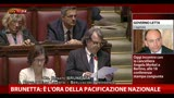30/04/2013 - Brunetta: &quot;E' l'ora della pacificazione nazionale&quot;