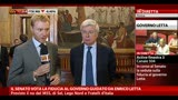 30/04/2013 - Il Senato vota la fiducia, intervista a Paolo Romani
