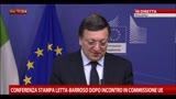 Incontro Letta-Barroso, Barroso: creare fiducia per crescita